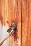 Het houten schilderen stock afbeelding