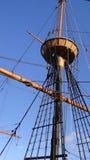 Het houten Schip kijkt uit Post royalty-vrije stock foto