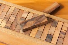 Het houten spel van de bloktoren voor kinderen Royalty-vrije Stock Afbeeldingen