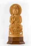 Het houten standbeeld van Boedha Royalty-vrije Stock Afbeeldingen
