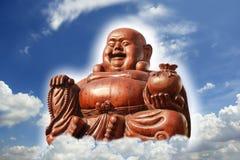 Het houten standbeeld van Boedha Royalty-vrije Stock Foto's