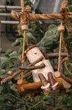 Het houten stuk speelgoed Stock Foto's