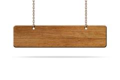 Het houten teken hangt royalty-vrije stock foto's