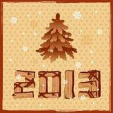 het houten teken van 2013 Royalty-vrije Stock Fotografie