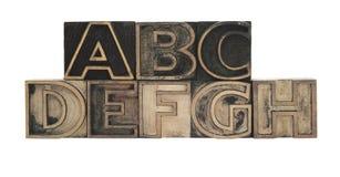 Het houten type van overzicht Royalty-vrije Stock Afbeeldingen