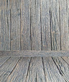 Het houten van de de muurvloer ruimte van de achtergrondbehang uitstekende textuur houten donkere bruine ontwerp Stock Foto
