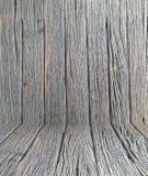 Het houten van de de muurvloer ruimte van de achtergrondbehang uitstekende textuur houten donkere bruine ontwerp Stock Afbeelding