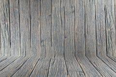 Het houten van de de muurvloer ruimte van de achtergrondbehang uitstekende textuur houten donkere bruine ontwerp Royalty-vrije Stock Foto