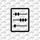 Het houten van de de voorraad vectorillustratie van het telraampictogram vlakke ontwerp vector illustratie
