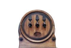 Het houten vat van de kraan stock fotografie