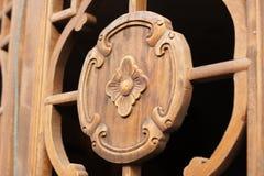 Het houten vensterscherm Stock Foto