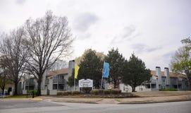 Het Houtflat Macon Road Memphis, TN van Canterbury stock foto