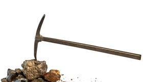 Het houwer-harde werk in de mijn Royalty-vrije Stock Afbeelding