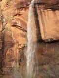 Het huilen van de Canion Utah van Zion van de Waterval van de Rots royalty-vrije stock afbeelding