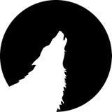 Het huilen van de wolf stock fotografie