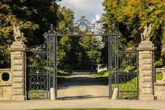 Het Huis & de tuinen van Kilruddery. Ingang. Ierland Royalty-vrije Stock Foto's