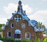 Het huis Barcelona, Catalonië, Spanje van de mozaïekenpeperkoek Stock Afbeeldingen
