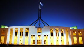 Het huis Canberra van het Parlement stock videobeelden