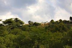 Het huis in de berg Stock Foto