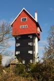 Het huis in de wolken Stock Foto's