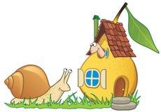 Het huis, de worm en de slak van de peer vector illustratie
