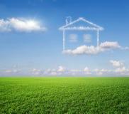 Het huis, een droom. Stock Afbeeldingen