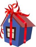 Het huis - een gift stock illustratie