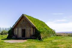 Het huis is een museum in openlucht IJsland 11 06.2017 stock foto's
