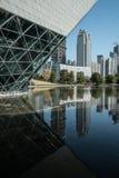 Het huis en de bibliotheek van de Guangzhouopera in guangzhou China stock afbeelding