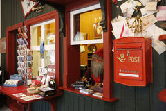 Het huis en het postkantoor van Santa Claus Stock Afbeelding