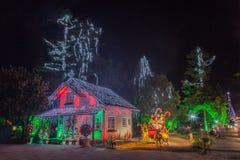 Het Huis Gramado Brazilië van Kerstmis royalty-vrije stock foto's