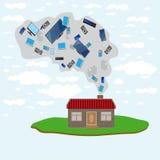 Het huis is hoge en geavanceerde technologie Vector Illustratie