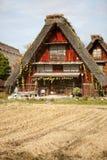 Het huis in Japans dorp shirakawa-gaat Stock Foto