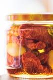 Het huis maakte in de oven gedroogde tomaten Royalty-vrije Stock Foto
