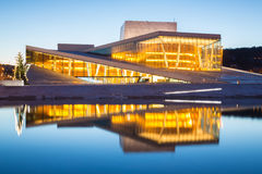 Het Huis Noorwegen van de Opera van Oslo stock afbeelding