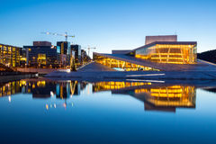 Het Huis Noorwegen van de Opera van Oslo stock foto