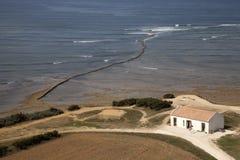Het huis op de oceaan Stock Fotografie