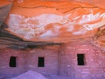 Het Huis van Anasazi van de bliksem Royalty-vrije Stock Afbeeldingen