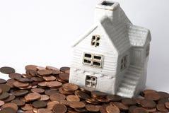 Het huis van besparingen Stock Afbeeldingen