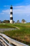 Het Huis van Bodie Island Light en van de Bewaarder Royalty-vrije Stock Foto