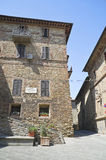 Het Huis van Boldrino. Panicale. Umbrië. Stock Foto