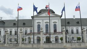 Het Huis van Bratislava van Voorzitter stock footage
