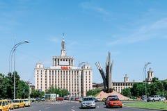 Het Huis van Casapresei Libere van de Vrije Pers in Boekarest stock afbeeldingen