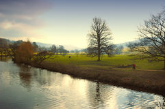Het Huis van Chatsworth & het Landgoed van de Tuin Stock Afbeeldingen