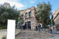 Het huis van Christopher Columbus Casa di Cristoforo Colombo in Genua, Itali stock fotografie