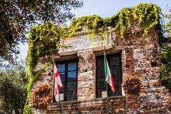 Het huis van Christopher Columbus, Genua - Casa Di Cristoforo Colombo, Genua, Italië, Europa royalty-vrije stock foto's