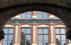 Het huis van Classicistic in Brugge Stock Foto's