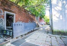 Het Huis van de Anpingsboom bij Anping-District, Taiwan op 20 September, 2018 Dit oude pakhuis wordt behandeld door vertakt van o stock foto's