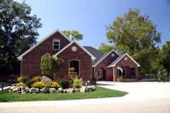 Het huis van de baksteen royalty-vrije stock foto