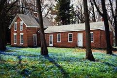 Het huis van de baksteen stock foto